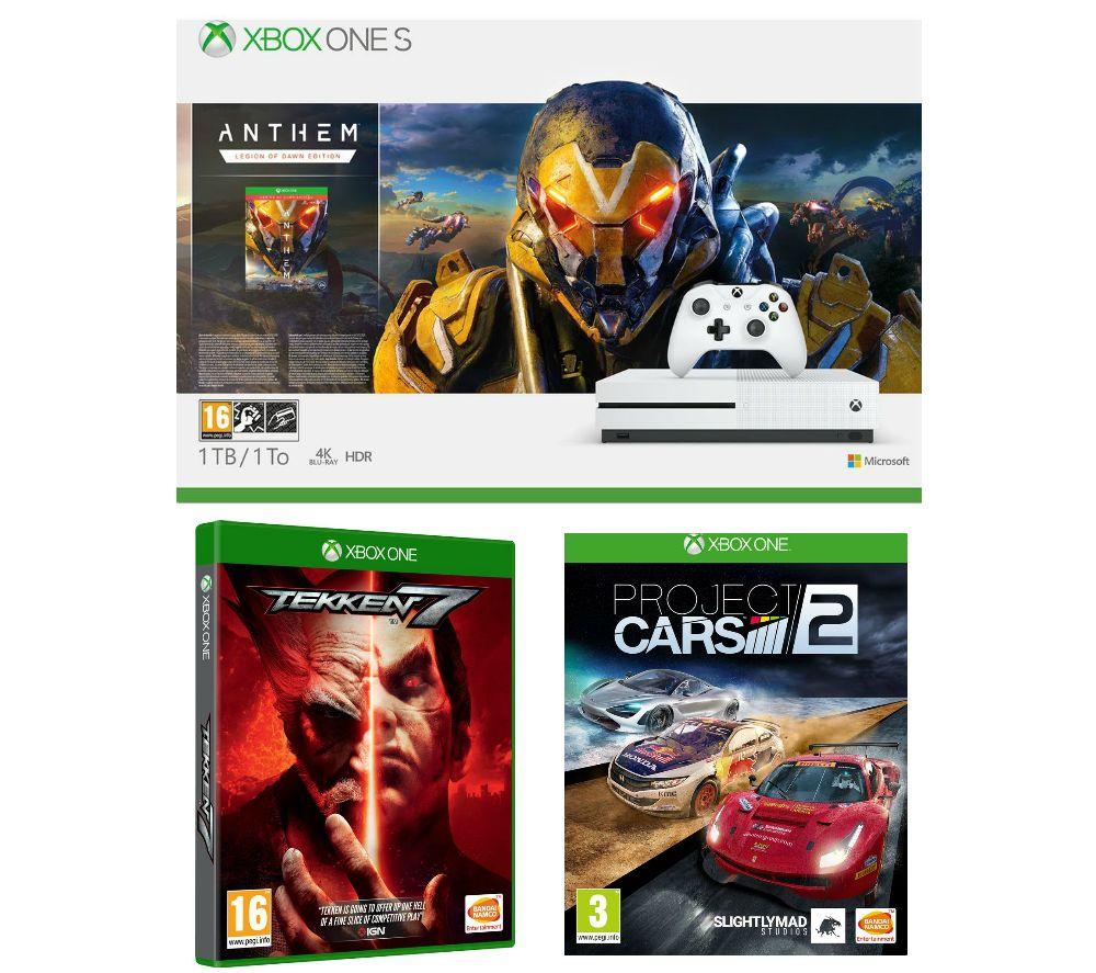 MICROSOFT Xbox One S, Anthem, Tekken 7 & Project Cars 2 Bundle