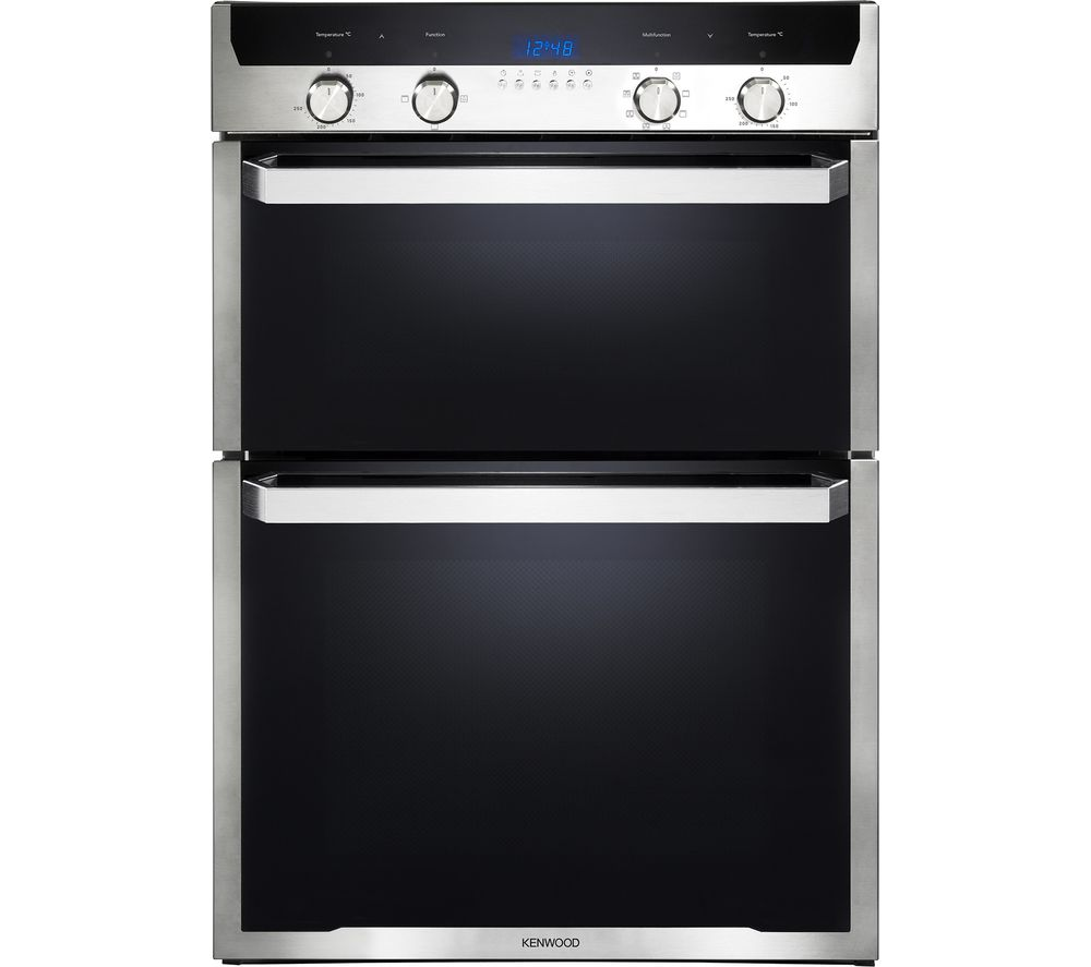 KENWOOD KD1505SS-1 Electric Double Oven - Black & Stainless Steel, Black