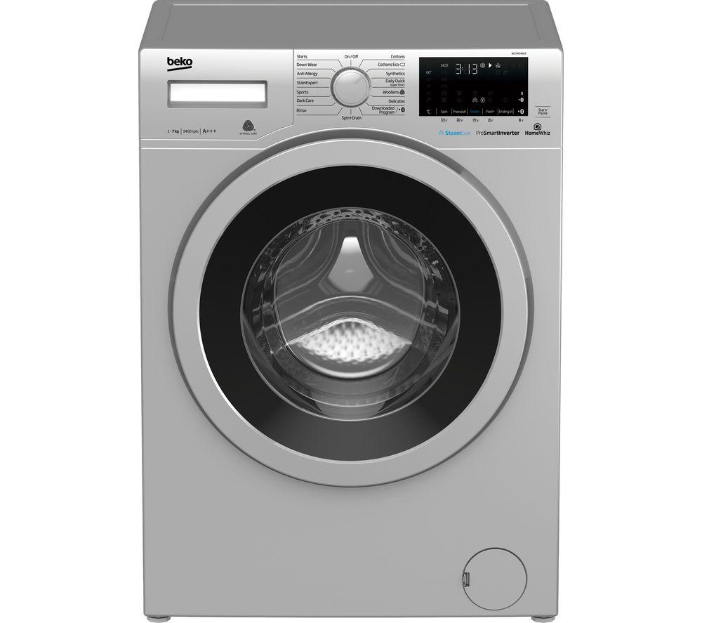BEKO WX740430S Bluetooth 7 kg 1400 Spin Washing Machine - Silver