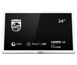 "PHILIPS 24PHT4354/05 24"" HD Ready LED TV - White"
