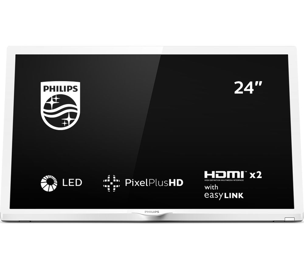 "Image of 24"" PHILIPS 24PHT4354/05 HD Ready LED TV - White, White"