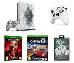 MICROSOFT Limited Edition Gears 5 Xbox One X, Tekken 7, Project Cars, Wireless Controller & Twin Docking Station Bundle
