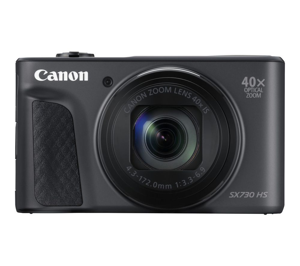 CANON PowerShot SX730 HS Superzoom Compact Camera with 32 GB SD Card and Case - Black