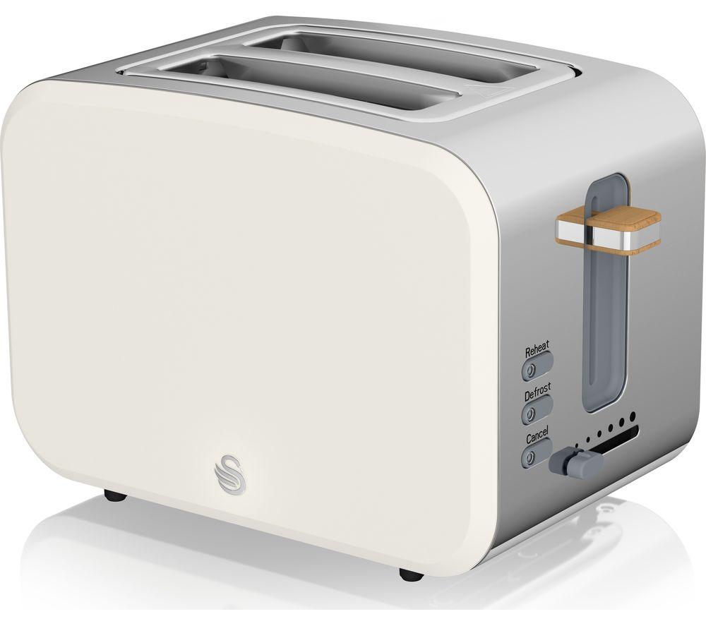SWAN Nordic ST14610WHTN 2-Slice Toaster - White