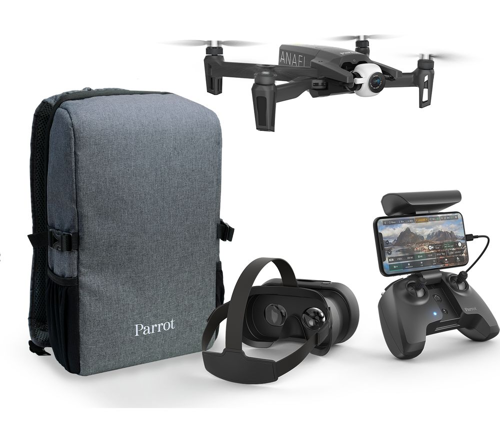 Image of PARROT ANAFI FPV Drone with Controller - Black, Black