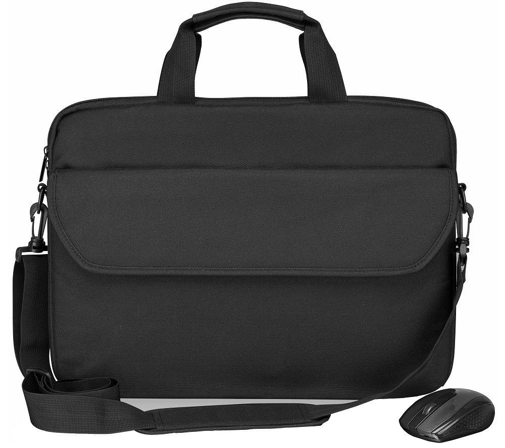 """LOGIK L14BUN20 14.1"""" Laptop Bag & Wireless Mouse Bundle - Black"""