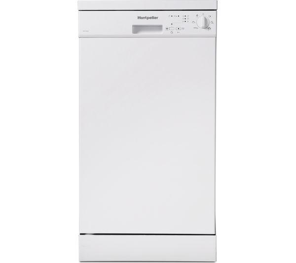 Image of MONTPELLIER DW1064P-2 Slimline Dishwasher - White