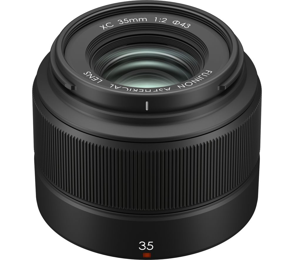 FUJIFILM Fujinon XC 35 mm f/2 Standard Prime Lens - Black