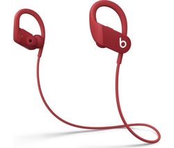 Image of BEATS Powerbeats High-Performance Wireless Bluetooth Sports Earphones - Red