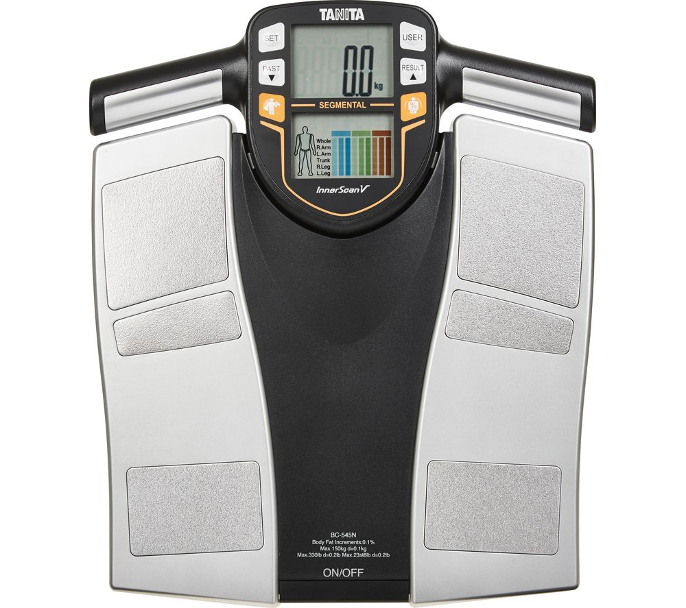 TANITA InnerScan V BC-545N Electronic Bathroom Scales - Black & Grey, Black