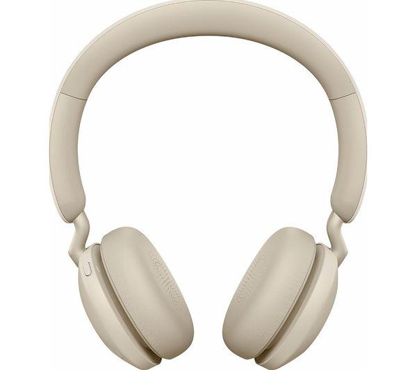 Image of JABRA Elite 45h Wireless Bluetooth Headphones - Gold Beige