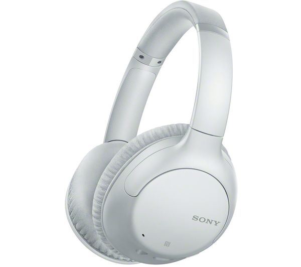 Image of SONY WH-CH710N Wireless Bluetooth Noise-Cancelling Headphones - White