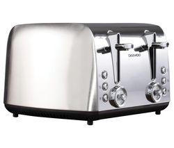 Kingsbury SDA1749 4-Slice Toaster - Stainless Steel