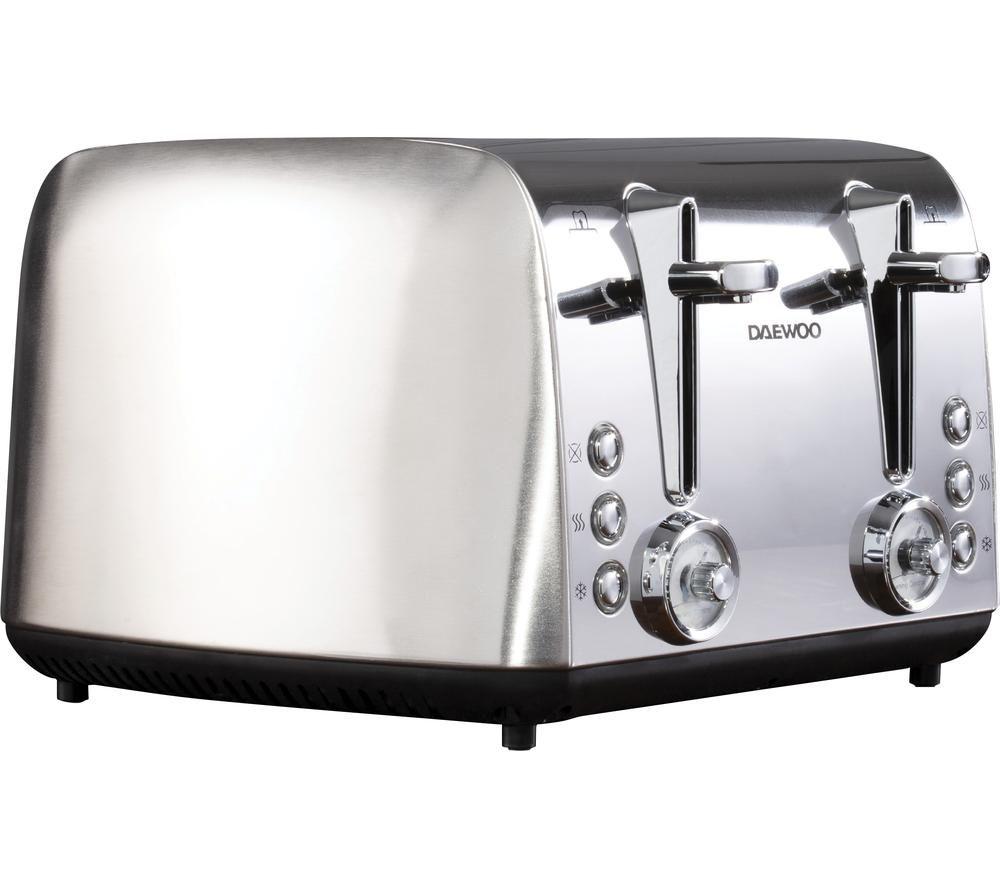 DAEWOO Kingsbury SDA1749 4-Slice Toaster - Stainless Steel