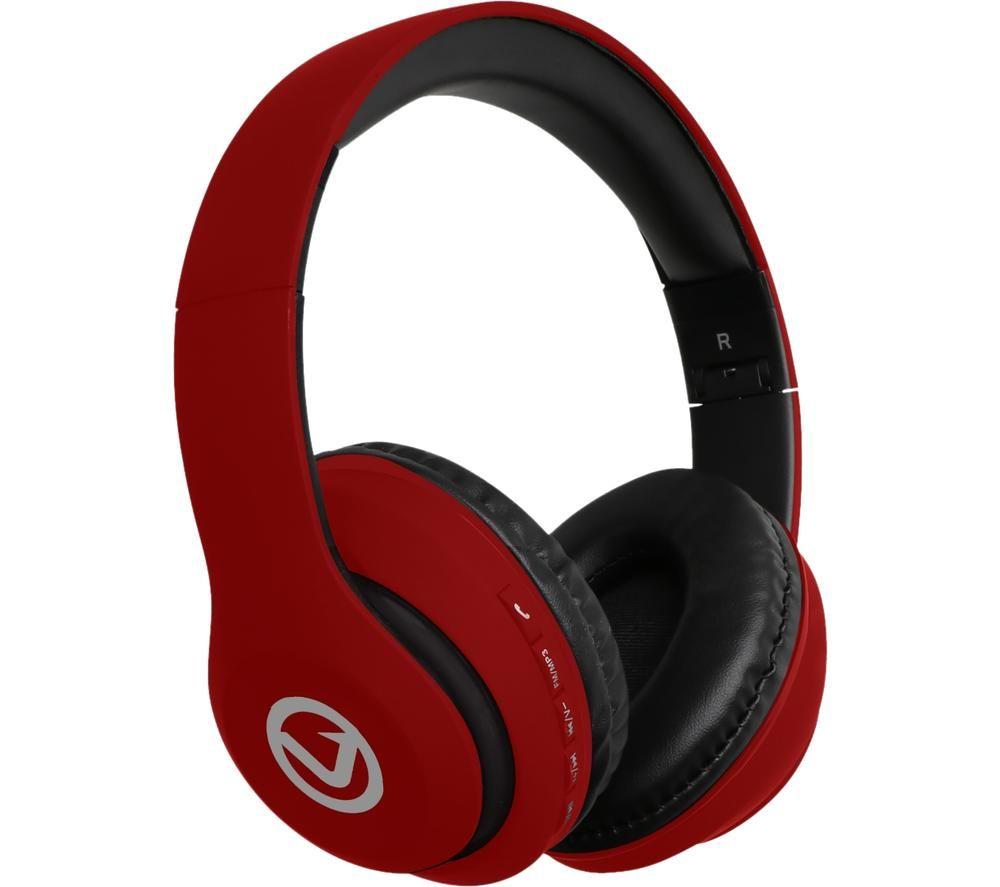 VOLKANO Impulse Series VB-VH101-RD Wireless Bluetooth Headphones - Red