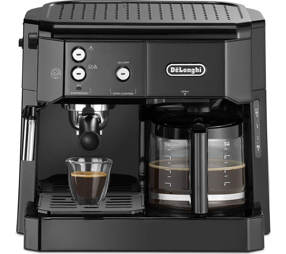 DELONGHI Combi BCO411.BK Filter & Pump Coffee Machine - Black
