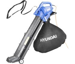 HYBV3000E 3-in-1 Garden Vacuum & Leaf Blower & Mulcher - Black & Blue