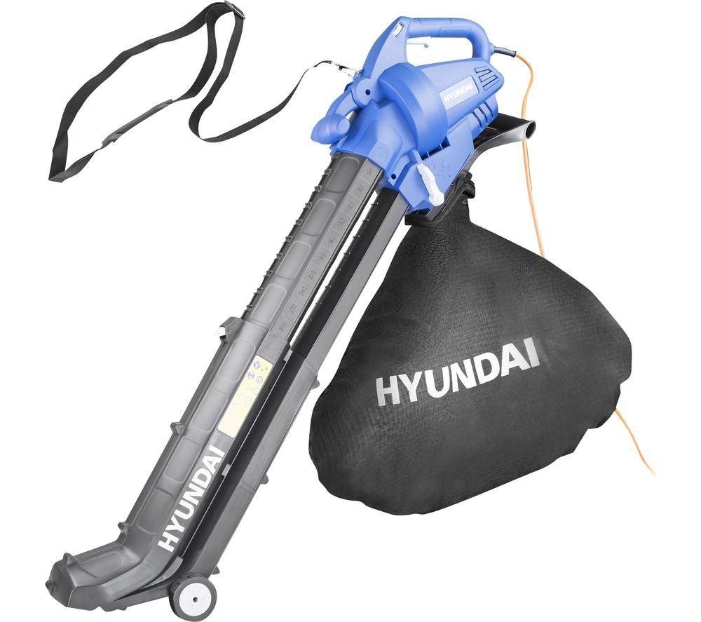 HYUNDAI HYBV3000E 3-in-1 Garden Vacuum & Leaf Blower & Mulcher - Black & Blue