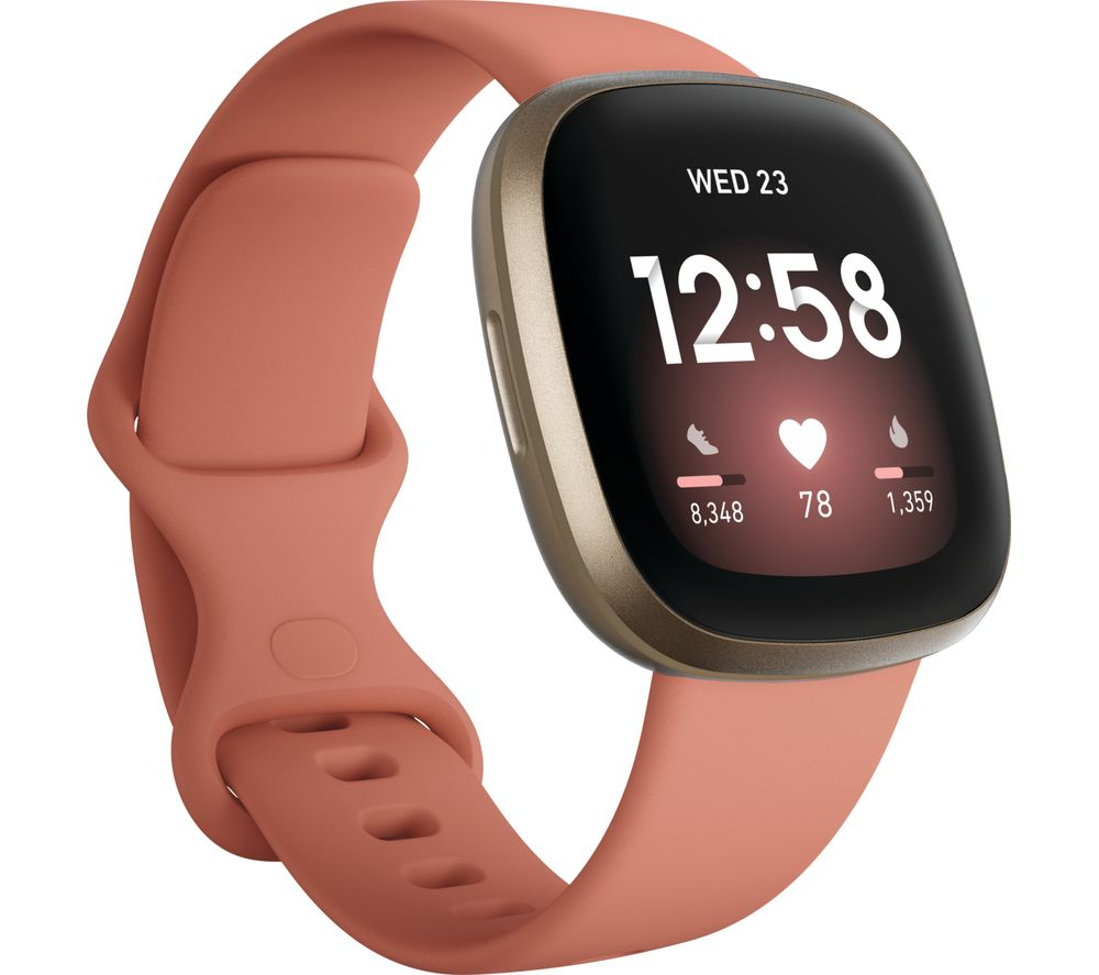 FITBIT Versa 3 - Pink Clay & Soft Gold, Pink