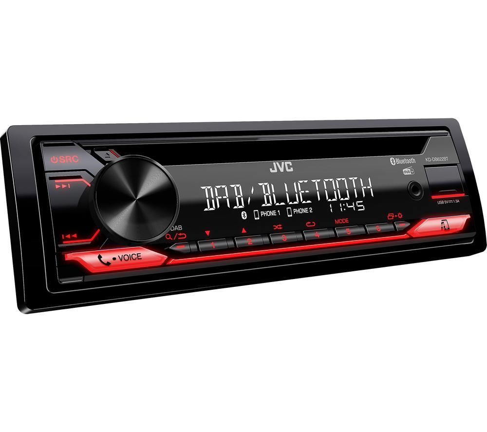 Image of JVC KD-DB622BT Smart Bluetooth Car Radio - Black, Black