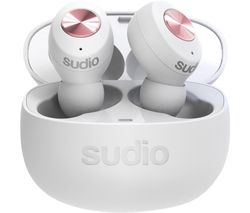 TOLV Wireless Bluetooth Earphones - White
