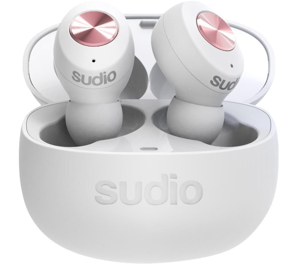 SUDIO TOLV Wireless Bluetooth Earphones - White, White