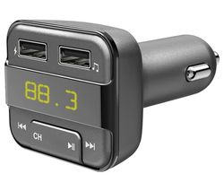 Prime Bluetooth to FM Radio Transmitter with USB - Black