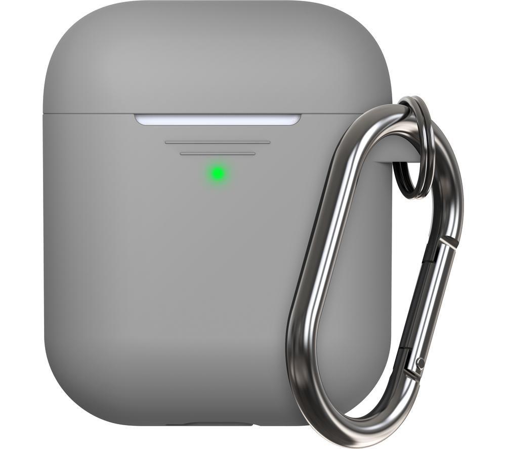 KEYBUDZ Elevate AirPods Protective Keychain Case - Earl Grey, Grey