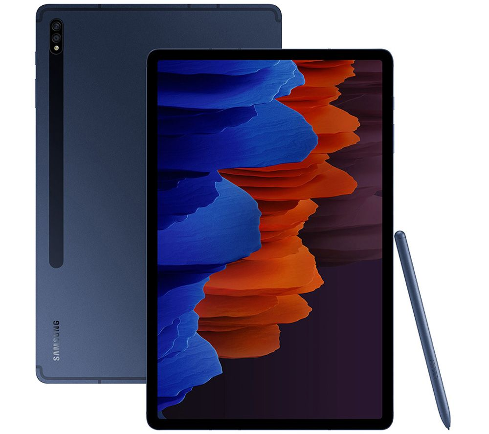"SAMSUNG Galaxy Tab S7 Plus 12.4"" Tablet - 256 GB, Mystic Navy"