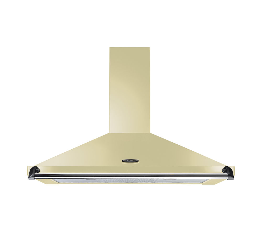 RANGEMASTER Classic CLAHDC90CR/C Chimney Cooker Hood - Cream & Chrome