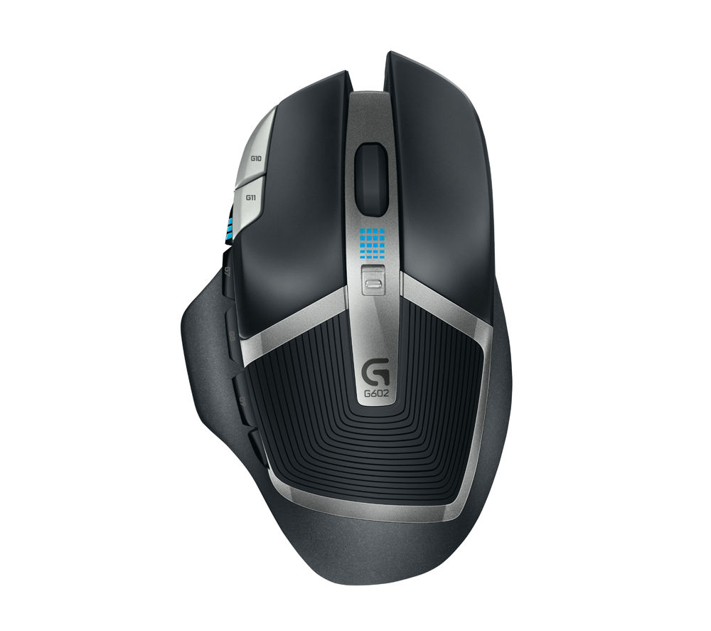 LOGITECH G602 Wireless Darkfield Gaming Mouse - Grey & Black