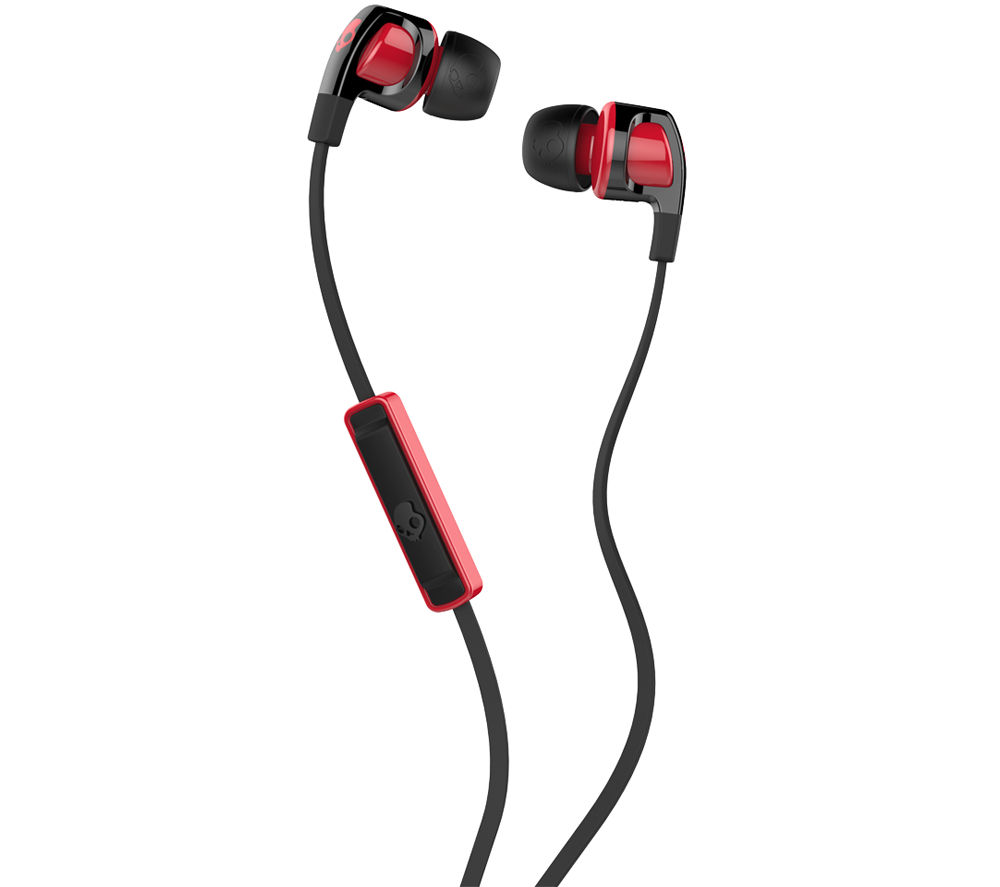SKULLCANDY Smokin' Buds 2 Headphones - Black & Red