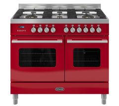 BRITANNIA Delphi RC10TGDERED Dual Fuel Range Cooker - Red