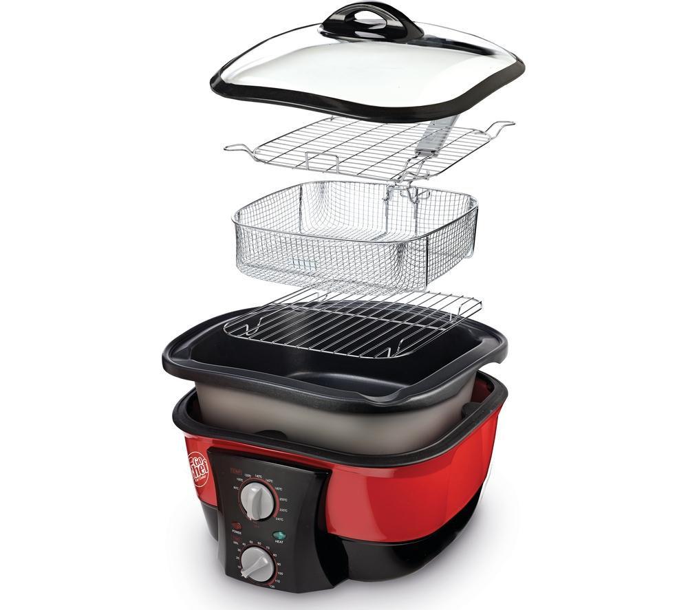 JML V0740 GoChef 8-in-1 Cooker - Red
