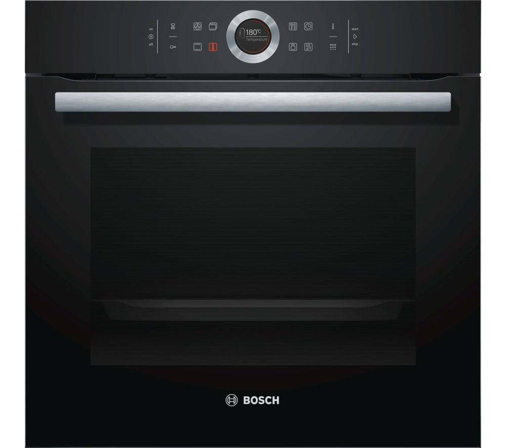 buy bosch serie 8 hbg674bb1b electric oven black free delivery currys. Black Bedroom Furniture Sets. Home Design Ideas