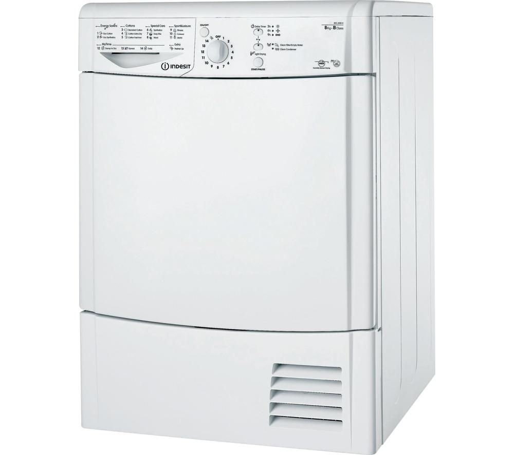 INDESIT IDCL85BH Condenser Tumble Dryer - White