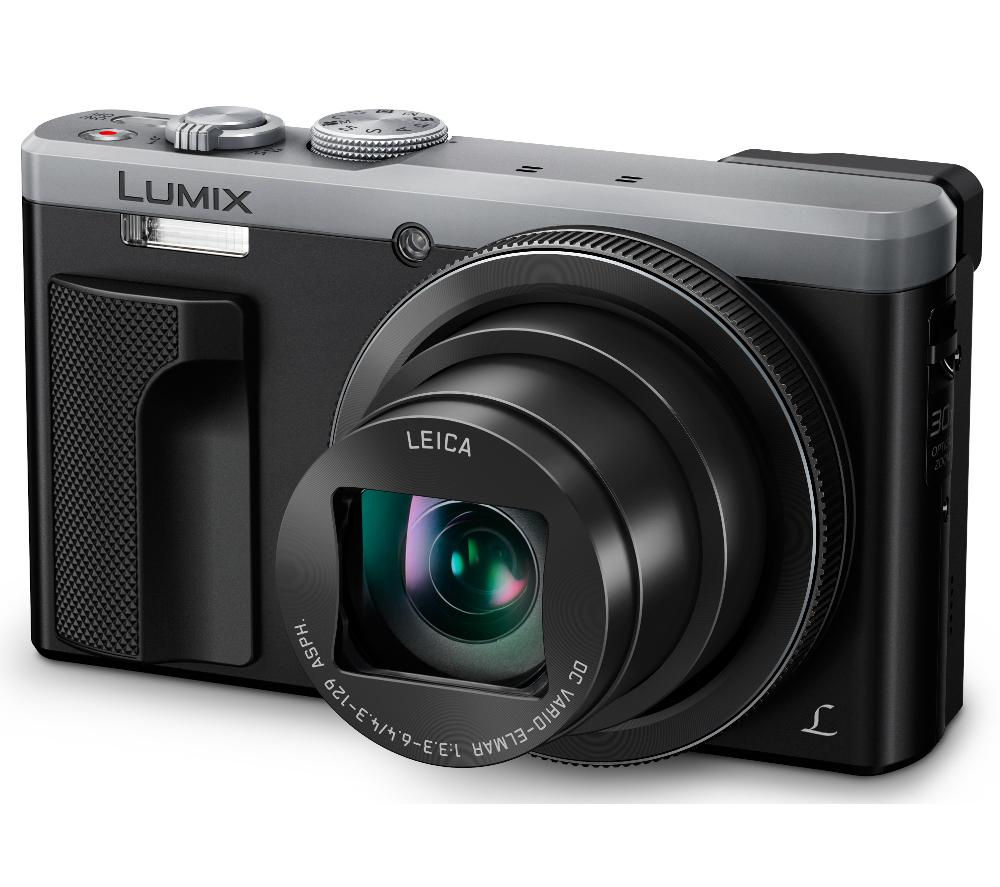 PANASONIC Lumix DMC-TZ80EB-S Superzoom Compact Camera - Silver + SHCOMP13 Hard Shell Camera Case - Black