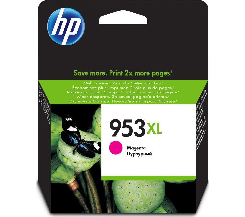 HP 953XL Magenta Ink Cartridge + 100 x 150 mm Photo Paper - 30 Sheets