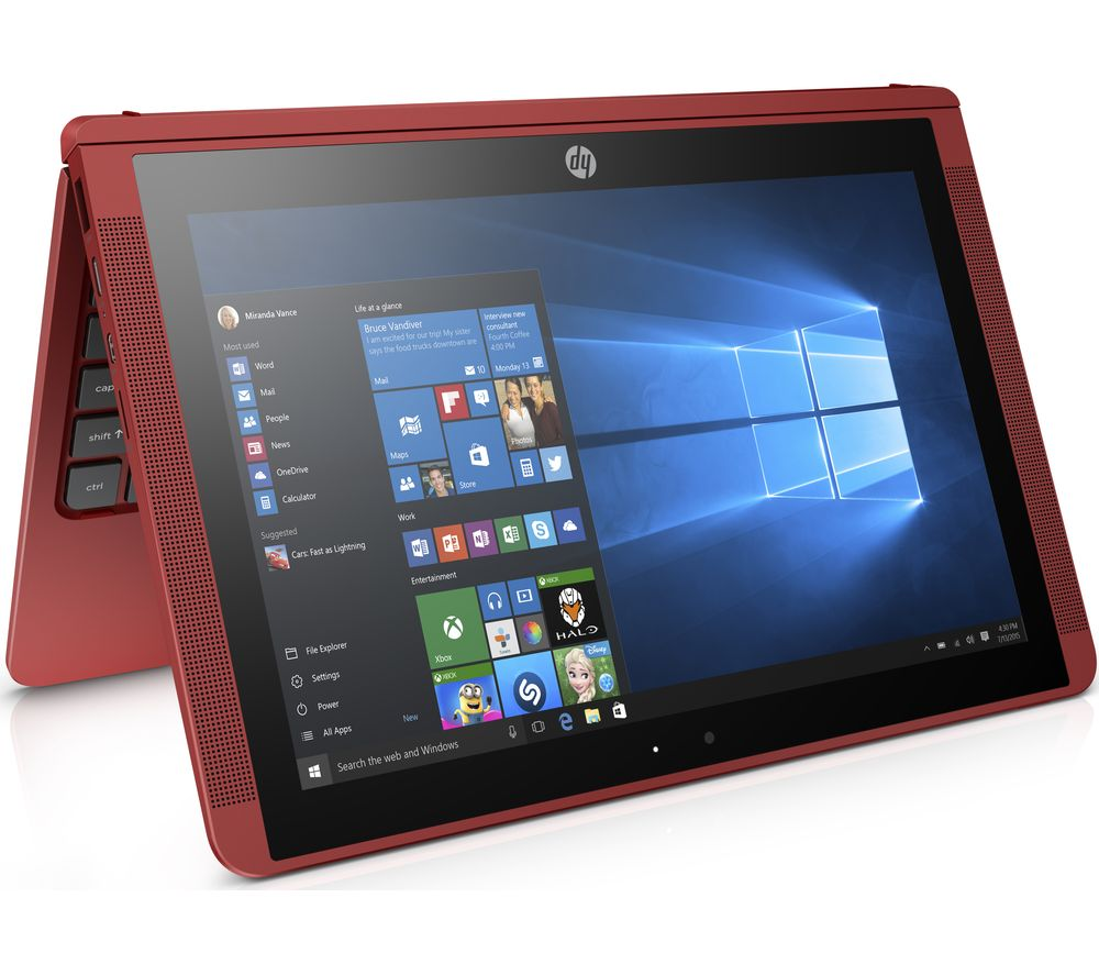 "HP x2 10-p057na 10.1"" Touchscreen 2 in 1 - Red + Office 365 Personal"