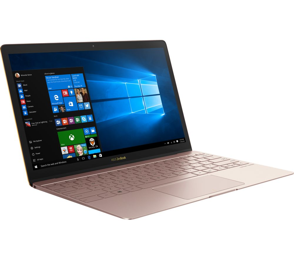 "Image of ASUS ZenBook 3 UX390 12.5"" Laptop - Rose Gold, Gold"