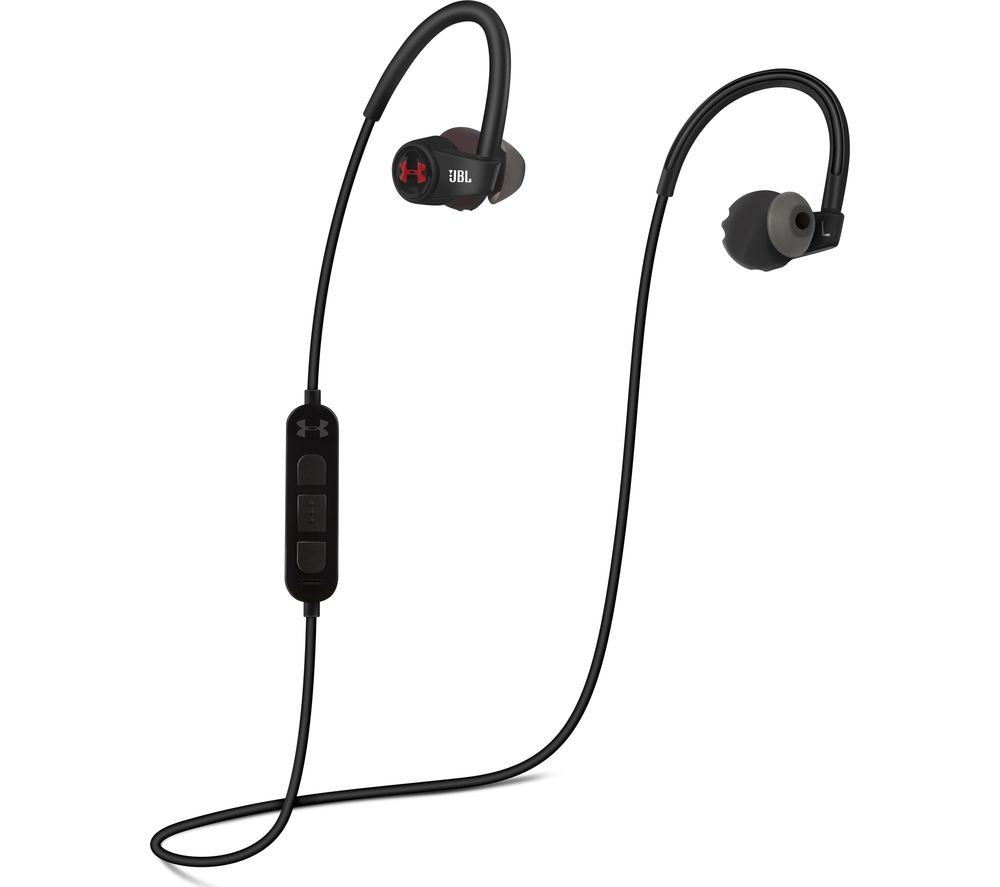 buy jbl under armour wireless bluetooth headphones black red free delivery currys. Black Bedroom Furniture Sets. Home Design Ideas