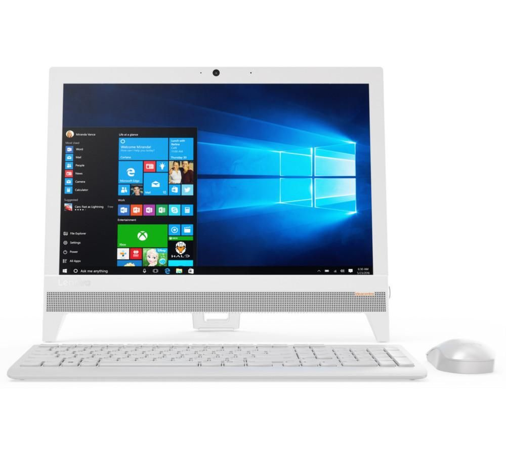 "LENOVO IdeaCentre 310 19.5"" Intel® Pentium® All-in-One PC - 1 TB HDD, White + Office 365 Personal - 1 year for 1 user + LiveSafe Premium 2018 - 1 user / unlimited devices for 1 year"