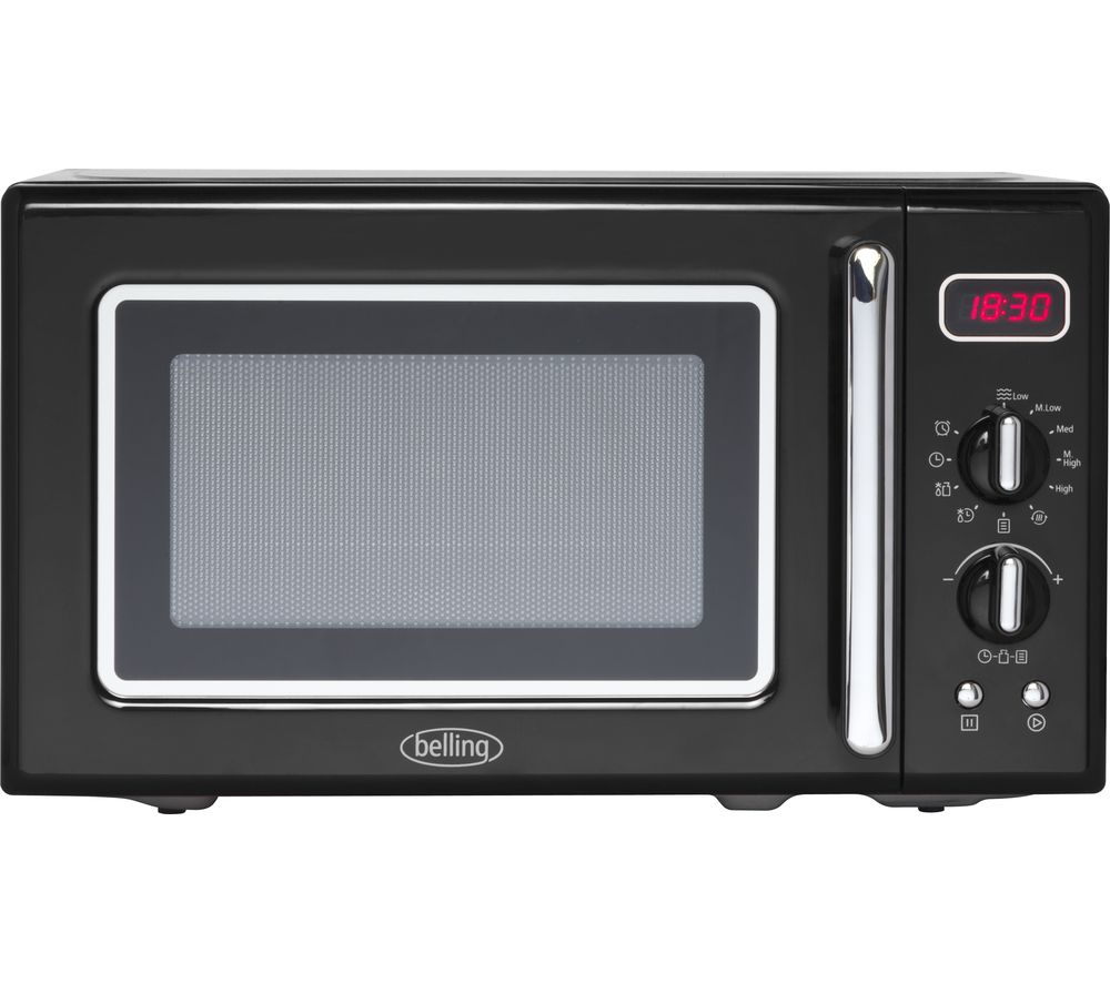 BELLING Retro FMR2080S Solo Microwave - Black