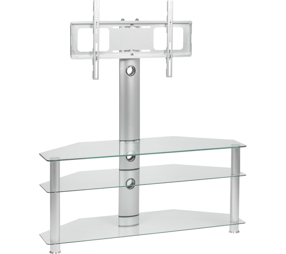 MMT Rio SCC61 TV Stand with Bracket - Clear Glass