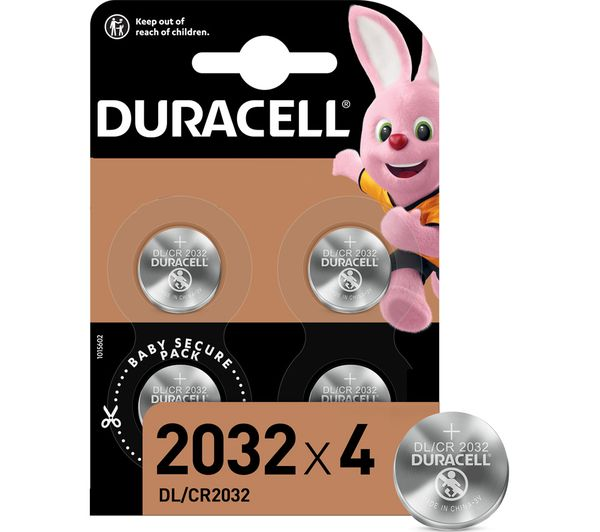 Image of DURACELL DL2032/CR2032/ECR2032 Batteries - Pack of 4
