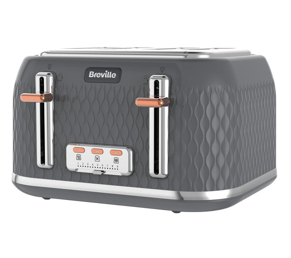 Buy Breville Curve Vtt912 4 Slice Toaster Granite Grey
