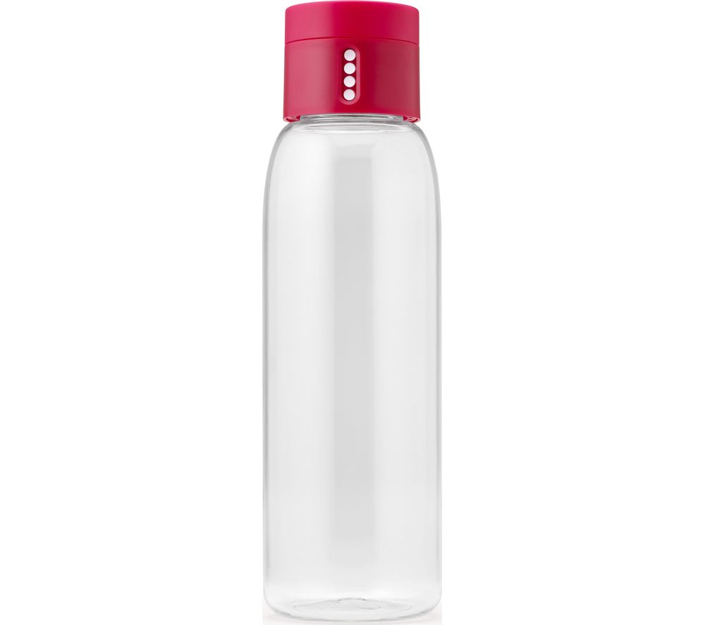 JOSEPH JOSEPH Dot Hydration Tracking 600 ml Water Bottle - Pink