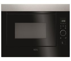 AEG MBE2658S-M Built-in Solo Microwave - Black & Stainless Steel