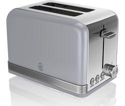 SWAN ST19010GRN2-Slice Toaster - Grey