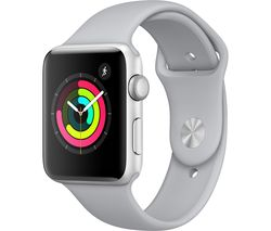 APPLE Watch Series 3 - Silver, 42 mm